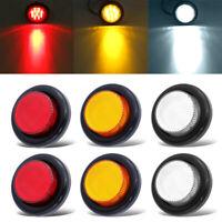2/4/10x Round LED Side Marker Light Indicator Lamp Car Bus Truck Trailer Caravan