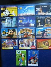 14 télécartes - Disney : Mickey, Minnie, Dingo, etc...