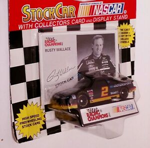 1994 RACING CHAMPIONS (#2 ) NASCAR RUSTY WALLACE , new with collector card