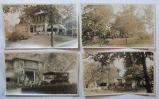 4 Original Snapshot Photographs of a Beautiful Old House and Property, c 1920s