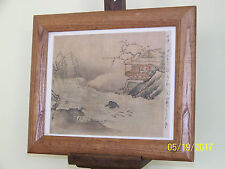 Chinese Qing Dy Ink & WaterColor on Silk Paper Inscribed Right Edge Signed