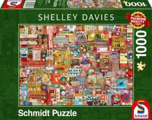 Schmidt Shelly Davies Vintage Sewing Supplies 1000 Piece Jigsaw Puzzle