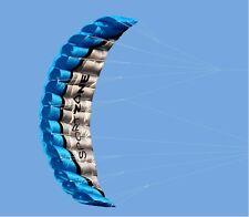 Outdoor Toys Dual Line Parafoil Parachute Stunt Sport Beach blue Kite 2.5m PP2