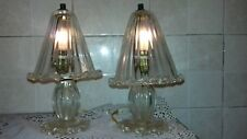 ABAT-JOUR 40's PAIR TABLE LAMPS GLASSES ORIGINAL MURANO