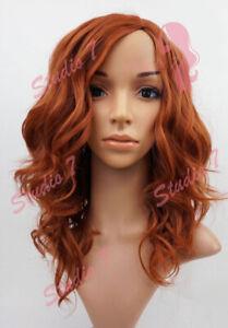 W92 Ladies Wig Light Auburn Ginger Mix Beach Waves Natural Look studio7-uk