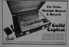 1975 Guild Copicat for Echo, Multiple Repeat+Reverb for Electric guitar print ad