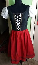 Dress German Austrian Bavarian Trachten Oktoberfest DIRNDL Handmade Size 6-10 US