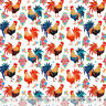 """Rise & Shine Rooster - Home Decor Fabric Polyester 62"""" W Sold by the Yard"""