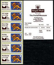 THE POSTAL MUSEUM LOGO BPMA HERALDIC BEAST LION COLL SET/6  FDI POST & GO