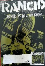 "Rancid Authentic Epitaph Honor Is All We Know Promo Poster 13"" X 19"""