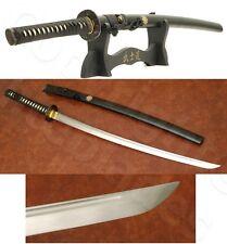 Functional Hand Made Musashi Musha Mitsudomoe Samurai Katana Sword W/ Stand &Bag