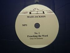 No 1 Maze Jackson, Over 30 Audio Sermons on 1 CD, MP3 format
