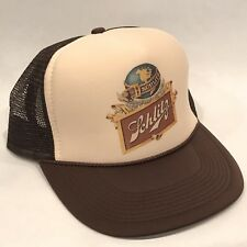 Schlitz Beer Trucker Hat Old Brewery Logo Vintage Style Snapback Cap Brown / Tan