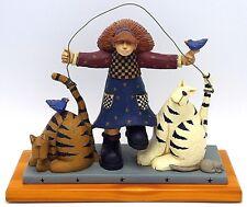 "WilliRaye Studio Best Friends Figurine Girl Jumping Rope with Cats WW1313 7"" T"