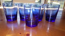 Cobalt Blue Tumblers Glasses short tumblers 5 16 ounce flat bottom