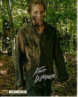 KENT WAGNER hand-signed THE WALKING DEAD closeup 8x10 authentic w/ UACC RD COA