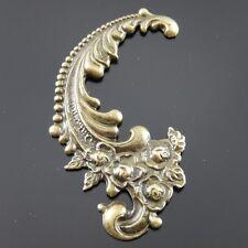 6pcs Antiqued Bronze Alloy Grace Flower Pattern Necklace Pendant Charms Jewelry