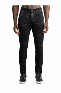 True Religion Men's Distressed Finn Runner Pants Size 36 x 28 NWT Concrete Black
