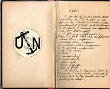 1934-35 Handwritten US Navy Sailors Diary USS Leary, Wyoming & Eagle Halifax