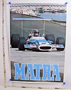 MATRA FORMULA 1 MONTE CARLO RACE CAR POSTER BY LOOART PRESS 1960s