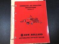 Original New Holland 77 Automatic Pick-Up Baler Operators Manual 956-77-5M 6-55W