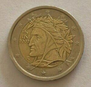Pièce de 2 EURO  ITALIE  2002 rare