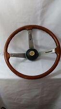 "Vtg. ALFA ROMEO Wood Steering Wheel Personal Nardi Embossed Right Spoke 15.3"""