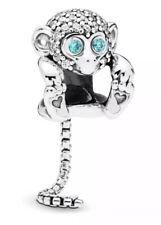 Genuine Pandora Sparkling Monkey Charm S925 ALE - 798054CZ
