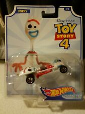 Disney Pixar Toy Story 4 Hot Wheels Collector Character Cars Forky #5 Of 8, New