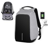 "17"" Anti-theft Men Women Laptop Notebook Backpack + USB Charging Port School Bag"