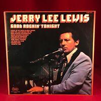 JERRY LEE LEWIS Good Rockin' Tonight - 1975 UK Vinyl LP EXCELLENT CONDITION