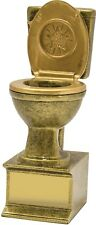 Comic Toilet Award Loser Trophy 150mm Engraved FREE