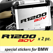 2 Adesivi Moto BMW R 1200 gs valigie NEW ADVENTURE ADV