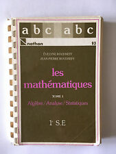 MATHEMATIQUES VOL 1 1986 ALGEBRE ANALYSE STATISTIQUES ROUDNEFF