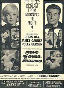 A4 Advert Move Over Darling 1963 Doris Day Jas Garner Polly Bergen Chuck Connors