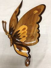 """Intrasia butterfly Wood Wall Hanging 11""""w x 17""""h"""
