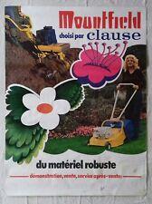 Affiche publicitaire seventies PSYCHÉDÉLIQUE motoculture MOUNTFIELD - années 70