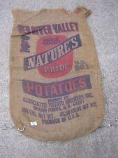 Red River Valley Vintage Nature's Pride Potatoes Grand Forks N. D. burlap sack