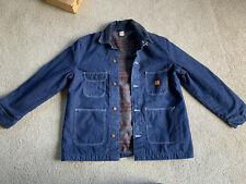 New Big Ben Work Jacket Denim Sz 44 Wrangler Lined Chore Barn Coat Nwot Trucker