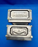 2 METASCOPE TRAYS for 6 mm X 13 mm GLASS STEREOVIEWS