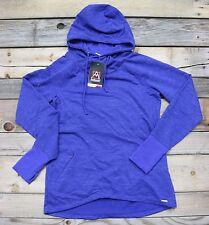 Avalanche Womens Mazanine Blue Spacedye Knit Hooded Sweatshirt Top MEDIUM M