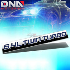 ALUMINUM STICK ON POLISH BLUE 6.4L 6.4 L TWIN TURBO DECAL EMBLEM TRIM BADGE LOGO