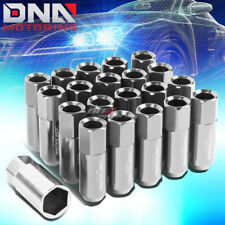 20 PCS SILVER M12X1.5 EXTENDED WHEEL LUG NUTS KEY FOR LEXUS IS250 IS350 GS460