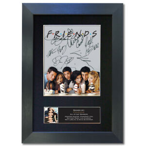 FRIENDS Central Perk Signed Mounted Reproduction Autograph Photo Prints A4 819