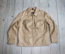 Women's Vintage APART IMPRESIONS Beige 100% Leather Blazer Jacket Coat Size UK16