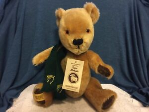 """Merrythought Ironbridge Shrops Teddy Bear 15"""" Mohair With Tags Jointed England"""
