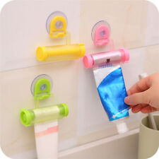 3X Rolling Toothpaste Dispenser Tube Squeezer Sucker Holder Hanger Gadget Tool