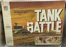 Vintage TANK BATTLE Board Game - 100% Complete - Milton Bradley (1975)
