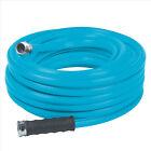 Aqua Joe AJH58-50 Heavy-Duty Garden Hose | 50-Foot | 5/8-Inch Flow | Blue