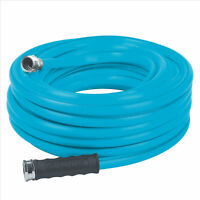 Aqua Joe AJH58-50 Heavy-Duty Garden Hose | 50-Foot | 5/8-Inch Flow | Blue